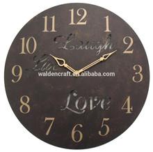 vivere amore ride artigianato del ferro vintage castello tema muro orologio appeso descrizione