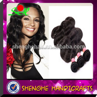 high quality wholesale fashionable nature color hair wave 16 inch luxury unprocessed virgin peruvian hair from factory directly