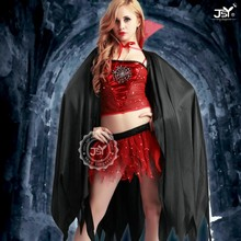Hot fashion animal cosplay costume,halloween costume devil girl,red witch costume dress