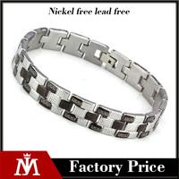 Wholesale High Quality Casting Jewelry Titanium Steel Two Tone Brazilian Fashion Bracelet for Men