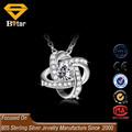 Atacado jóias de prata 925 pave diamond pingente, bling pingente cz