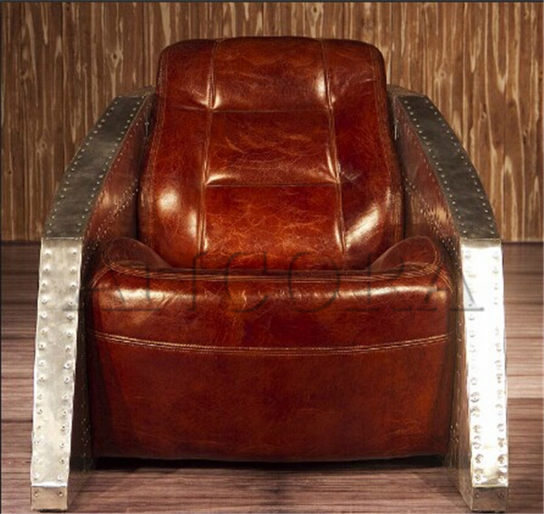 Fancy Sinclair Leather Club Chair,Tub Chair With Metal Arm An-2051 ...