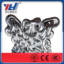 DIN5685 G80 short or long link chain standard galvanized