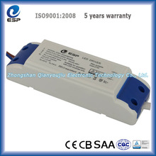 Plastic housing constant current led transformer 36W 24-45V with TUV, CB, CE, SAA, CQC