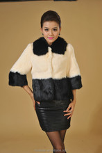 fat lady decorative square collar rabbit fur and fox fur garments
