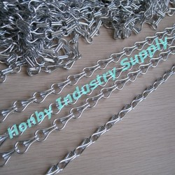 12mm Silver Brilliant Colors Double Jack Aluminum Chain Link Curtain