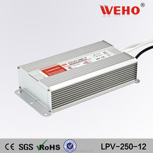 CE RoHS 250w waterproof switch mode 12v 20a waterproof power supply