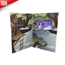 Personaggio dei cartoni animati produzione tft scheda di acquisizione video/video di auguri carta modulo