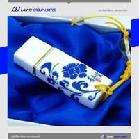 beautiful blue and white porcelain usb flash drive