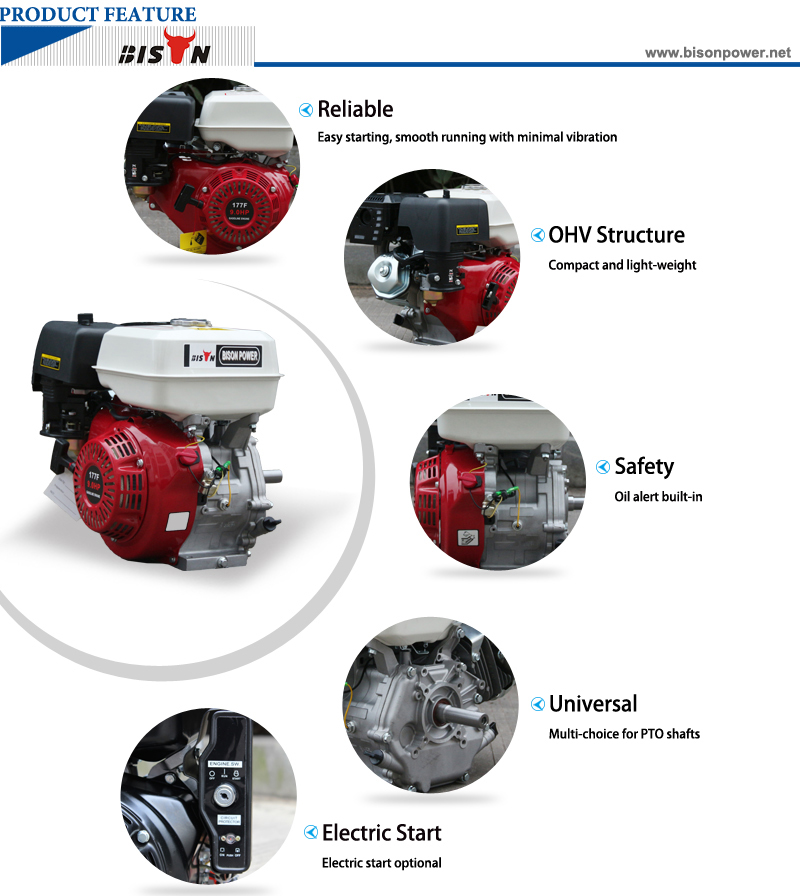 9HP petrol engine BS177F 1