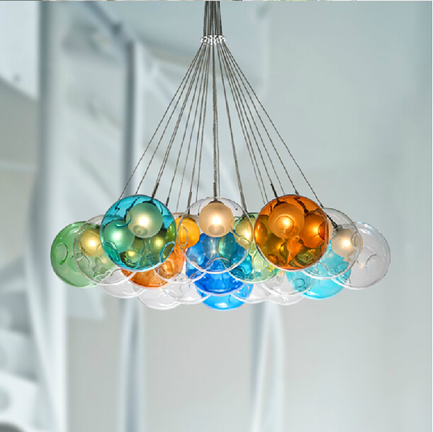 Colorful Glass Bubble Pendant Light Chandelier View Glass