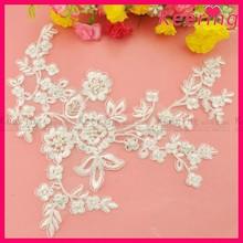 New wholesale white cotton embroidery lace applique WLS-532