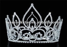 "Wholesale Vintage Style Pageant Tall 4.5"" Tiara Full Circle Round Crystal Crown CT1693"