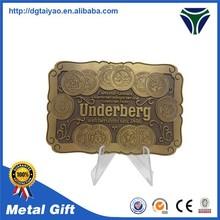 Zinc alloy antique plated flat buckle belt wholesale