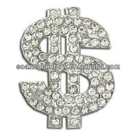 dollar brooch pin