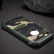 High quality leather phone case with camouflage pattern for iphone 5 case