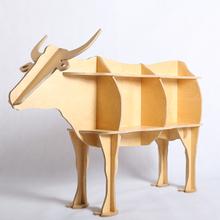 2015 new product Christmas decor wood bull furniture