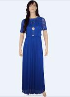 Muslim Lady Evening Dress With Delicate Diamond Series Maxi Dress