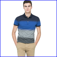 polo factory short sleeve garment washed custom design 100% cotton polo shirt