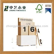 antique decoration made in china hand craft kids gifts wholesale block mini wooden desktop calendar