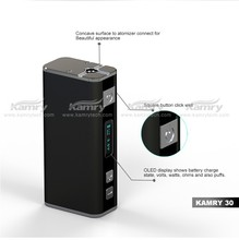 2015 best selling smoking device ecigs kamry 30 mod, adjustable wattage from 7w-30w e cig wholesale china
