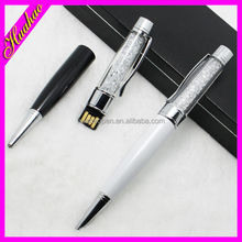 Hot selling promotional crystal pendant usb pen drive, usb stylus pen, usb flash drive pen with logo