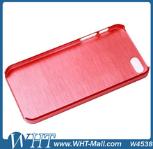Cellphone Accessory Brushed Chromed Hard Plastic Case for iPhone 5S
