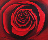 oil painting red rose