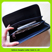 15376 Human fashion men wallet leather with woven pattern