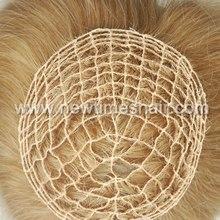 Blond integration remy hair half wig