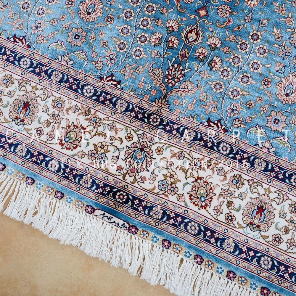 bleu hereke tapis oriental persan nou la main soie mur tapis tapis id de produit 60534913218. Black Bedroom Furniture Sets. Home Design Ideas