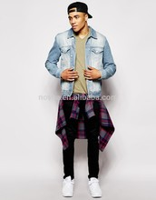 Hombres Slim Fit cuello en V manga larga camiseta fabricantes de ropa china