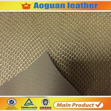 China shoe leather,hot sell shoes upper material shiny snake artificial leather for embossing A1385