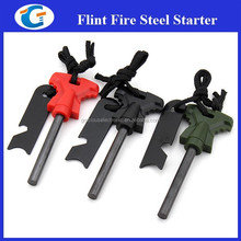 Emergency flint fire starter camping product