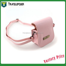 Polaroid Mini 25 Instant Camera Cases Leather Pink Accessory Compact Protective, Fuji Camera Bag With Strap
