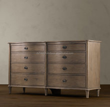 French antique vintage recycled wood furniture Chest of Drawers