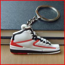 New Jordan 2 Carmelo Red Sneaker 2D Keychain Keyring
