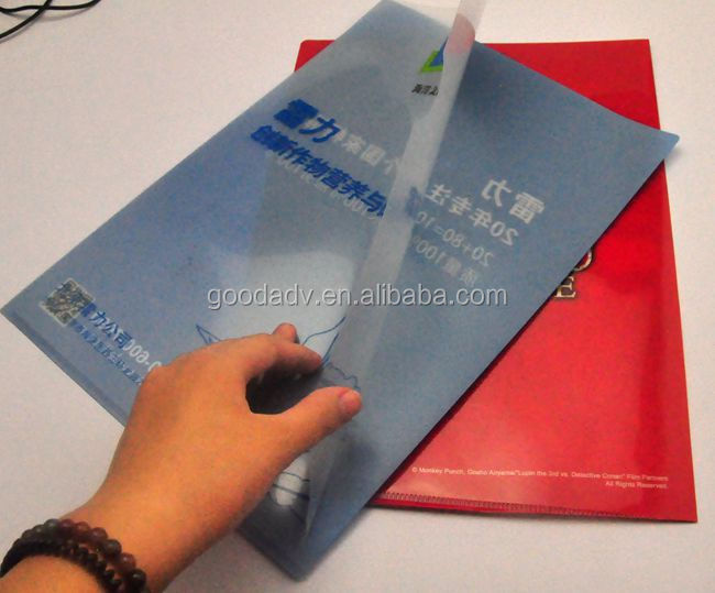 2015 Hot selling guangzhou factory low price pp plastic file folder