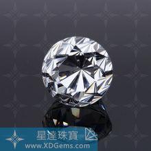 high quality machine cutting white round 0.8mm-10mm cubic zirconia gemstone