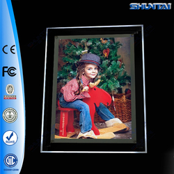 Wall Mount LED Ultrathin Backlit Acrylic Lighted Picture Frame
