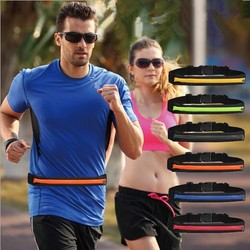Hot multi-function running waist bag anti-theft money & waterproof waist belt bag sports running belt bag