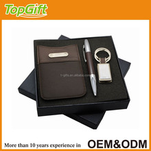 Business gift set for man with phone case pen and keychain