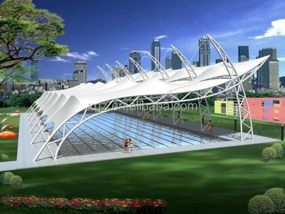 Tensile Fabric Structure For Swimming Pool Buy Tensile Fabric Structure Tension Structure