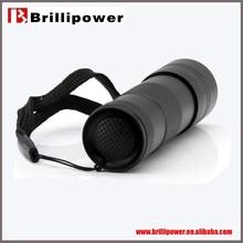 Hot sale high quality black Brillipower Adopt 3pcs AAA batteries uv light torch 4.5v flashing led strip light