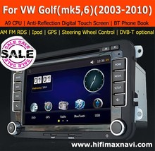 HIFIMAX A9 CPU car dvd player for vw golf 5 golf 6 dvd navigation with DVD GPS RDS USB SD Bluetooth IPOD DVB-T TV Box Optional