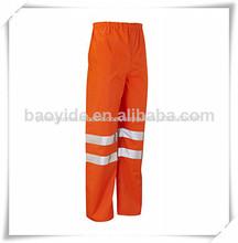 Alta qualidade de calças de segurança, impermeável calças de segurança com fita reflexiva