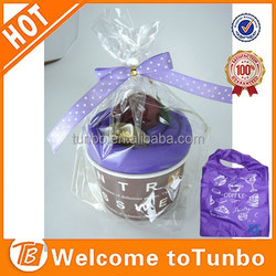 Wholesale Cheap Custom Eco polyester foldable shopping bag gift shopping bag