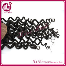 best 100% be at ease deep wave silk top lace closrue pledged black silk base closure no shed straight brazilian hair