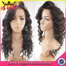 2015 Hot Selling Fashion Unprocessed Human Hair Lace Front Wigs With Bangs