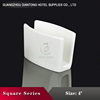 Alibaba White Ceramic Material Wholesale Useful Napkin Stand For Dinner